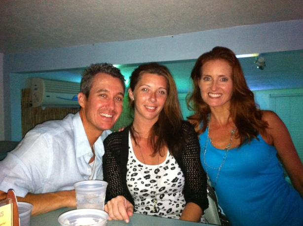 Phillip, Krista and Angela Dinner on A1A First Night