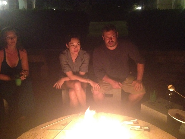 Krista, Chloe And Jeremy Smores Party