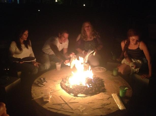 Karen, Jorge, Lisa And Brenda Smores Party